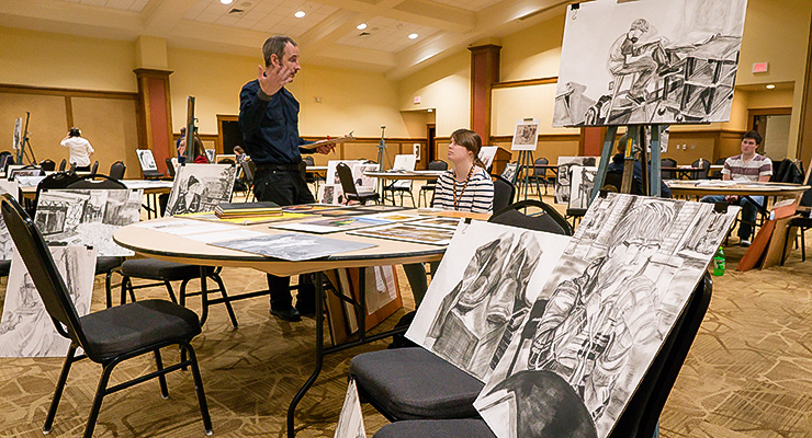 Art department holds annual sophomore review