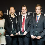 School of Business honors students at banquet